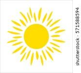 yellow sun icon isolated on... | Shutterstock .eps vector #571588594