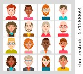 male and female avatar set.... | Shutterstock .eps vector #571588864