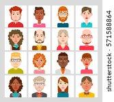 male and female avatar set.... | Shutterstock .eps vector #571588864