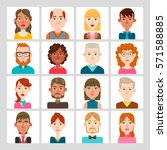male and female avatar set.... | Shutterstock .eps vector #571588885