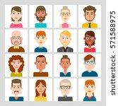 male and female avatar set.... | Shutterstock .eps vector #571588975
