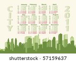 panorama city. calendar 2011   Shutterstock .eps vector #57159637