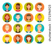colorful round icons with... | Shutterstock .eps vector #571596925