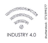 industry 4.0 concept business...   Shutterstock .eps vector #571599277