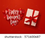 valentine s  card design with... | Shutterstock .eps vector #571600687