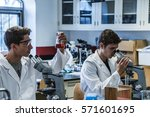 science research project... | Shutterstock . vector #571601695