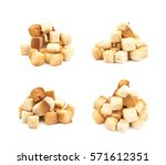 pile of garlic white bread... | Shutterstock . vector #571612351