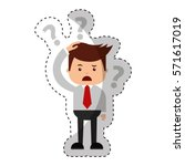 businessman funny with doubt... | Shutterstock .eps vector #571617019