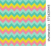 Chevron pattern seamless vector arrows geometric design colorful pink yellow aqua blue teal turquoise | Shutterstock vector #571620445