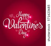 2017 happy valentine's day... | Shutterstock .eps vector #571623685