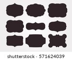 vintage black frame empty set.... | Shutterstock .eps vector #571624039
