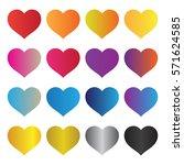 heart vector designs | Shutterstock .eps vector #571624585