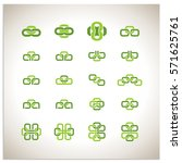 isolated set of 16 vector icon...