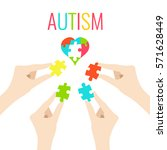 autism awareness poster with... | Shutterstock .eps vector #571628449