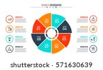 business data visualization.... | Shutterstock .eps vector #571630639