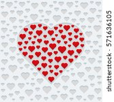 design for valentines day... | Shutterstock .eps vector #571636105