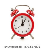 red alarm clock isolated on... | Shutterstock . vector #571637071