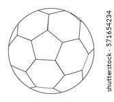 football ball icon in outline... | Shutterstock . vector #571654234