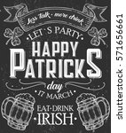 happy st. patrick day poster of ... | Shutterstock .eps vector #571656661