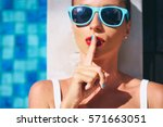 keep secret  gossip girl.... | Shutterstock . vector #571663051