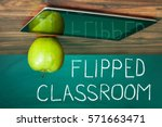 flipped classroom concept on...   Shutterstock . vector #571663471
