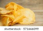 Fried Potato Chips Corrugated...