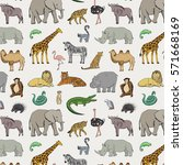 african animals pattern | Shutterstock .eps vector #571668169