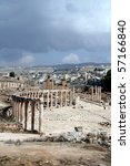 Jerash in jordan - stock photo