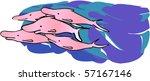 happy dolphins   Shutterstock .eps vector #57167146