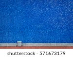 top view of beg swimming pool.... | Shutterstock . vector #571673179