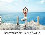 Young Woman Doing Yoga Asana I...