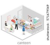 isometric flat 3d concept... | Shutterstock .eps vector #571679569