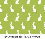 seamless easter pattern.... | Shutterstock .eps vector #571679905