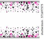 light horizontal border banner...   Shutterstock . vector #571697575