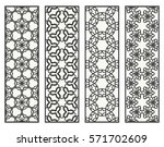 decorative black line borders...   Shutterstock .eps vector #571702609