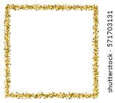 gold frame glitter texture... | Shutterstock .eps vector #571703131