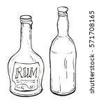 two bottles of the rum  vector... | Shutterstock .eps vector #571708165