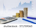 financial analysis by rows...   Shutterstock . vector #571709365