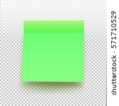 green sticky note isolated on... | Shutterstock .eps vector #571710529
