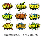 funny sale label and icon set ... | Shutterstock .eps vector #571718875