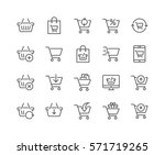 simple set of shopping cart... | Shutterstock .eps vector #571719265