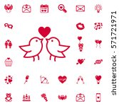 love bird icon. set of... | Shutterstock .eps vector #571721971