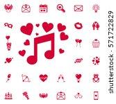 love music icon. set of... | Shutterstock .eps vector #571722829