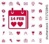 valentines day flat calendar...   Shutterstock .eps vector #571722841
