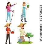Set Young Girls Gardeners...
