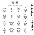 set of light bulb icons in...   Shutterstock .eps vector #571727299