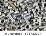 nuts bolts background | Shutterstock . vector #571733374