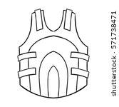 paintball vest icon in outline... | Shutterstock . vector #571738471
