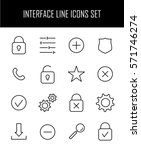 set of interface icons in...