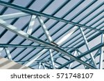 structure of steel roof frame... | Shutterstock . vector #571748107
